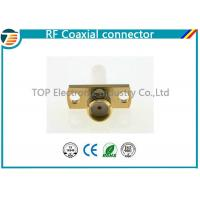 SMA Jack Straight Panel Coaxial Cable Connectors TOP-SMA11 for Solder Manufactures