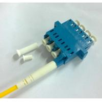 Quadruple 4 Cores LC UPC Singlemode Fiber Optic Adapter Blue Color Manufactures