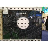 """Quality Black Bardiglio Prefab Vanity Tops Solid Granite 22"""" X 36"""" With SGS CE Approval for sale"""