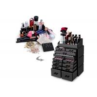 China Black Acrylic Cosmetic Display Stand Clear Makeup Storage Organizer With 12 Drawers on sale