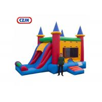 China Removable PVC Triple Play Moonwalk Double Slide Combo 3 Years Warrenty on sale