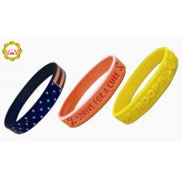 Sports Printed Silicone Bracelets With Company Flag, Silicon Bands For Events. Manufactures