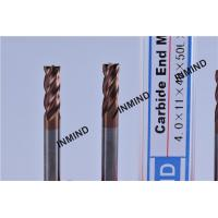 HRC55  TiSiN TiAlN AlTiN Coating , Carbide End Mill , 4mm 4 Flute ,  Certizit  WF25 , Milling Cutter Manufactures