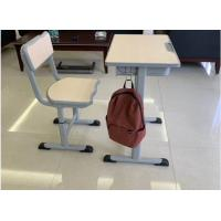 Cold Rolled Steel Student Desk And Chair Set Commercial Furniture Eco - Friendly Material Manufactures