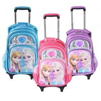 Cute Disney 5D Frozen Anna and Elsa Princess School Bag Trolley Bag For Teenagers Manufactures