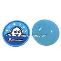 Soft pvc rubber silicone coaster custom MICHELIN round promotional coaster for Mcdonald KFC Starbucks Manufactures