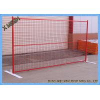 Powder Coated Temporary Mesh Fencing Low Carbon Steel Wire 8FT X 10FT Mesh Panel Manufactures