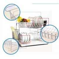 Wall Mounted Kitchen Wire Baskets Large Storage Space Free Move For Houseware Manufactures