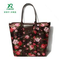 High quality shoping bag ECO Friendly Fashional heavy duty polyester Oxford tote Bag flower shoulder bag manufactuer Manufactures