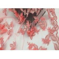 Water Soluble Orange Mesh Lace Fabric Embroidery Small Flower For Dress Manufactures