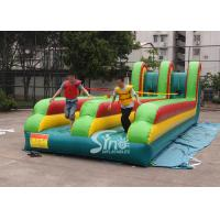 10m long double lane kids N adults inflatable bungee run for interaction games Manufactures