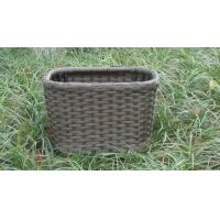 Strong Plastic Rattan Storage Boxes , Brown Rattan Storage Case Manufactures