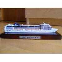 China Customized Design Wooden Model Boats With MSC Magnifica Cruise Ship Shaped on sale