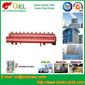 Industrial Steam CFB Boiler Header / Low Loss Headers Low Pressure Manufactures