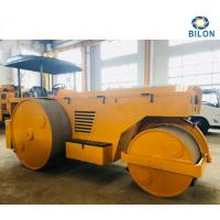High Stability Road Construction Paver Machine , Three Wheel Static Road Roller Manufactures