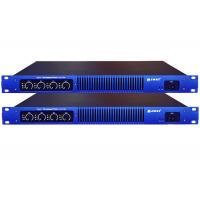 Blue 1U Digital Class D Power Amplifier 350W With Power 8Ohm Manufactures