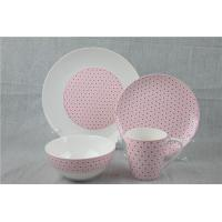 China Restaurant Bone China Dinnerware Sets 16pcs With Decal Printing on sale