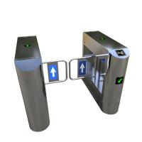 Bank Swing Barrier Automatic Turnstiles RFID Swing Glass Gate For Access Control System Manufactures