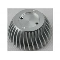 Anodized CNC Aluminium Parts , LED Bulb Light Stamped / Extruded Heat Sink Manufactures