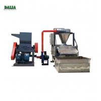 Water Type Scrap Cable Recycling Machine , Copper Wire Granulator With Belt Conveyor Manufactures