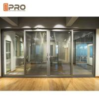 Tempered Aluminium Double Sliding Doors With Single / Double Glass Manufactures