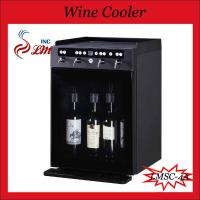 China Dual-temperature Control Glass Door Bottle Wine Refrigerator on sale