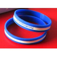 Eco Friendly Custom Silicone Rubber Wristbands Light Weight SGS Certification Manufactures