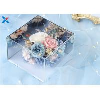 Light Weight Mirror Acrylic Flower Box For Dry Fresh Flowers Non Flammable Manufactures