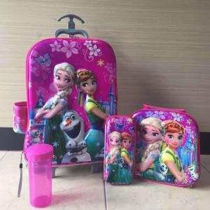 Hot sale   6D    Kids   Trolley  3 pcs / trolley school bags  / children travel bags Manufactures