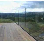 High quality U channel base tempered glass deck railing / U profile frameless
