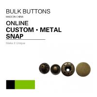 Custom  On Snaps / Metal Color 4 Parts Snap Button Fasteners Manufactures