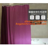 PEVA Bathroom hooks shower curtain, PEVA Shower Curtain Disposable Bath Curtain, shower curtain For Hotel Bathroom packa Manufactures