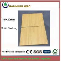140X20mm WPC Solid outdoor decking from Changxing Hanming Technology Co.,LTD