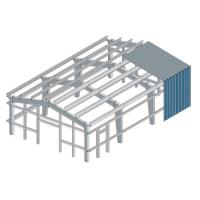Safety Multi Layer Workshop Steel Building Frame ISO9001 SGS Certification Manufactures