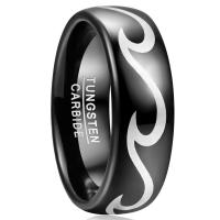 Buy cheap 2019 Nuncad 8mm Men's Ring Wedding Band Engagement Ring Black Tungsten Steel from wholesalers