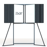 Knocked Down Construction Poster Display Stand 22X28 Inch Manufactures
