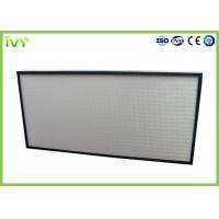 China Easy Operated HEPA Air Filter Polyurethane Sealant With Aluminum Plate Frame on sale