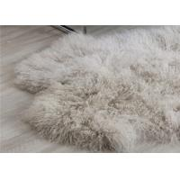 Mongolian Sheepskin Rug Oversized Home Accessories Tan Color Real Animal Fur Manufactures