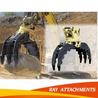 China CE approved excavator grapple, bucket hydraulic log grab and hydraulic wood grapple on sale