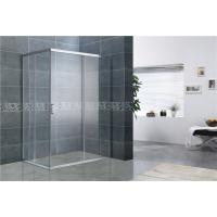 Bright Silver Rectangular Shower Enclosure 6MM Tempered Glass EN12150 For Home / Hotel Manufactures