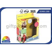 Custom Kids Toys / Dolls Corrugated Packaging Box with Clear Windows , Paper Gift Boxes Manufactures