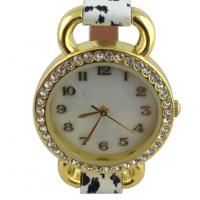 Analog Display Womens Quartz Watches With Leopard Leather Strap Manufactures