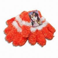 Children's Gloves, Made of 100% Wool, Customized Designs are Accepted