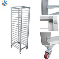 Quality 32 Trays Baking Tray Trolley / 201 Stainless Steel Baking Bread Trolley Rack for sale