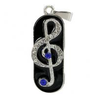 Music Note Design Custom Usb Flash Drives , Personalized Thumb Drive Pendrive Manufactures