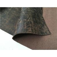 China 1.37 Meters Leather Car Seat Material Customizable Reclaimed Leather on sale