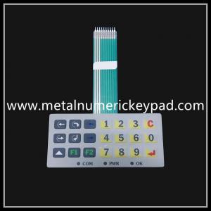 China Industrial equipment PET metal pot film membrane switch waterproof keyboard on sale