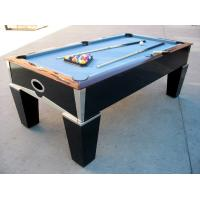 Deluxe 7FT pool table solid wood billiard table chromed metal coner for club and family Manufactures