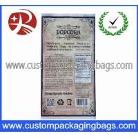 Customized Printing Reusable Plastic Food Packaging Bags / Microwave Popcorn Bag