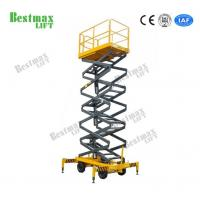 China 11m Height Mobile Scissor Lift Platform 500Kg With Good Stability on sale